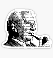JRR Tolkien Smoking Sticker