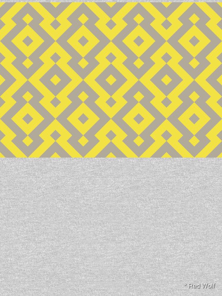 Geometric Pattern: Diamond: Yellow by redwolfoz