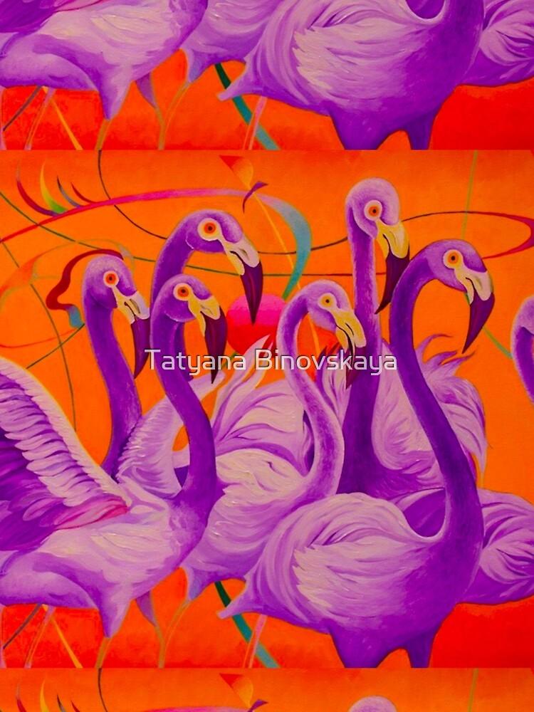 Purple Flamingo by Binovska