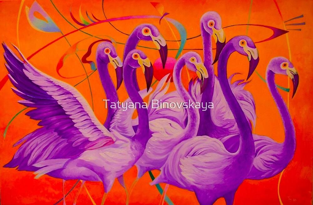 Purple Flamingo by Tatyana Binovskaya