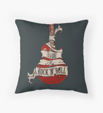 Made of Rock 'N' Roll Throw Pillow