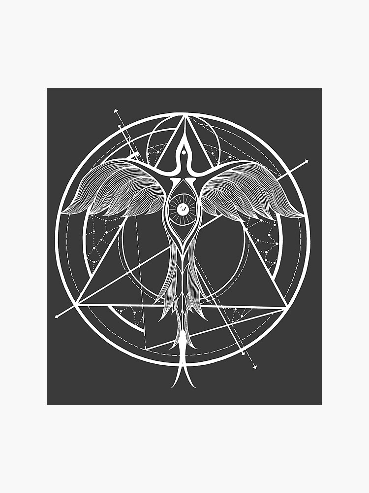 Phoenix Ascending Third Eye Of Horus Sacred Geometry Tattoo