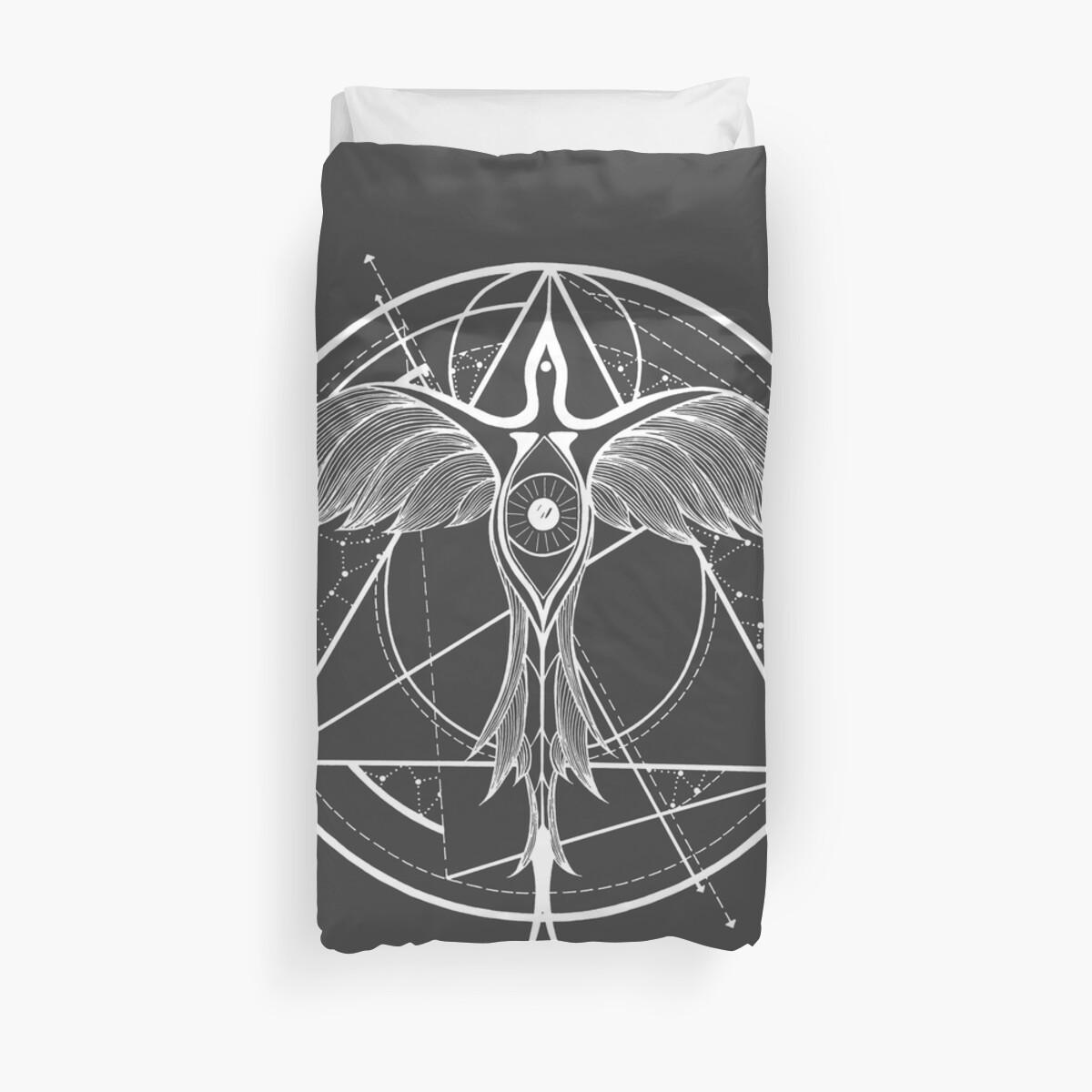366e52f26 Phoenix ascending | Third eye of Horus| Sacred Geometry tattoo design Duvet  Cover