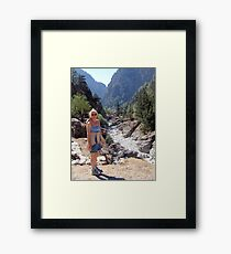 Samaria Gorge, Crete, Greece Framed Print