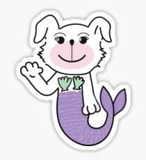 Purple Waving Merdoggo! Sticker