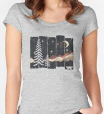 Starry Night in the Mountains... Women's Fitted Scoop T-Shirt