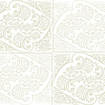 Flora Motif 2 - Eggshells by 40degreesSouth