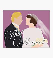 "DA: Mary e Matthew ""Just Married"" Photographic Print"