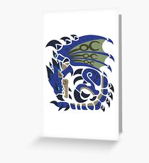 Azure Rathalos Greeting Card