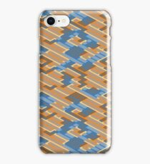 Geometric Lanes (Orange/Blue) iPhone Case/Skin