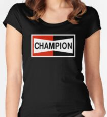 CHAMPION SPARK PLUG RACING CAR Women's Fitted Scoop T-Shirt