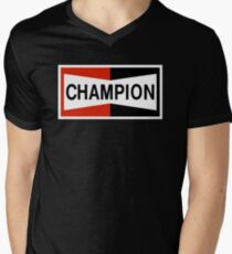 CHAMPION SPARK PLUG RACING CAR Men's V-Neck T-Shirt