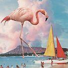 Flamingo Playground by leafandpetal
