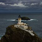 Muckle Flugga and Out Stack by Terry Mooney