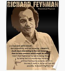 Richard P. Feynman, Theoretical Physicist (Sepia) Poster