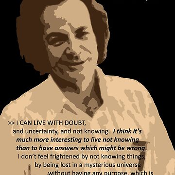 Richard P. Feynman, Theoretical Physicist (Sepia) by Feynman