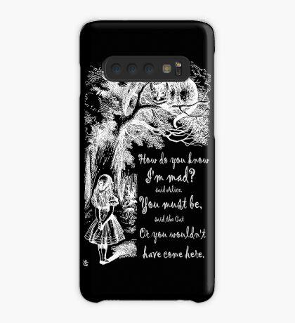 Cita de Alicia en el país de las maravillas: cómo sabes que estoy loco Funda/vinilo para Samsung Galaxy