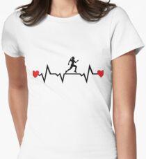 Laufen, Läuferin Tailliertes T-Shirt für Frauen