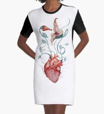 Pink Floyd Flowers | Watercolor painting | Rock fan art Graphic T-Shirt Dress