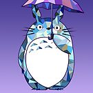 Totoro Purple Artwork tribute to Studio Ghibli by DesignDinamique