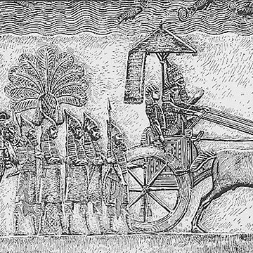 BABYLON, Sennacherib of Assyria during his Babylonian war, relief from his palace in Nineveh by TOMSREDBUBBLE