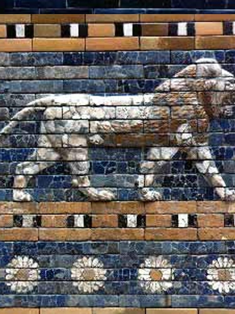BABYLON, Gates of Babylon, Detail of the Ishtar Gate reconstruction by TOMSREDBUBBLE