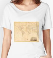 Vintage Map of The World (1818) Women's Relaxed Fit T-Shirt