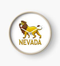 Nevada Lion Drawstring Bags Clock