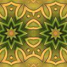 Abstraktes Tribal - Mandala von sibelscribble