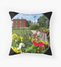The Painted Pathway Throw Pillow