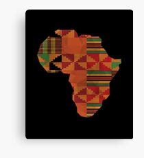 Africa Continent Kente Classic African Map  Canvas Print