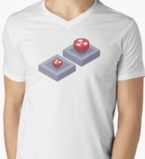 Nuclear Buttons Men's V-Neck T-Shirt