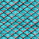 Teal blue and coral pink arapaima mermaid scales by savousepate