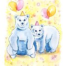 Birthday Bears | Whimsical Cute Animal Party by Vena Carr