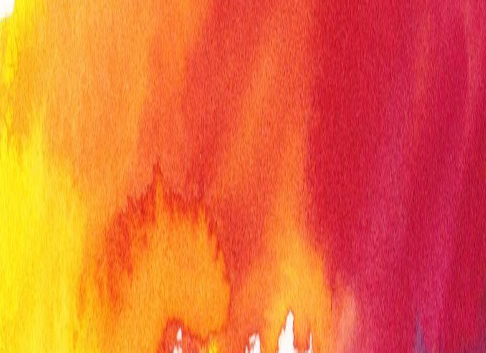 Quot Yellow To Orange Watercolour Paint Ombre Fire Quot By