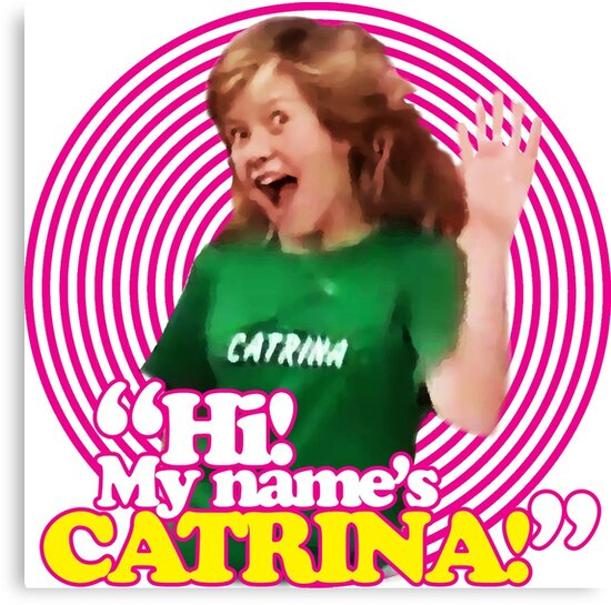 hi my name s catrina pink windmill kids canvas prints by grahame