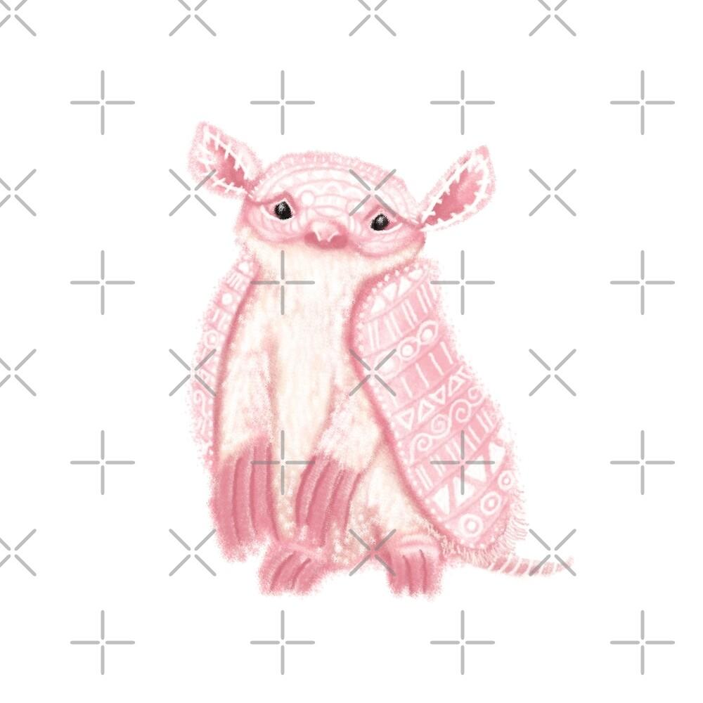 Pink Fairy Armadillo Spirit Animal by tinaschofield