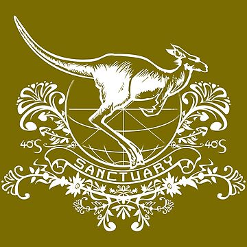 Kangaroo Sanctuary Crest - white by 40degreesSouth