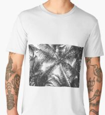 Black and White Palm Trees Men's Premium T-Shirt