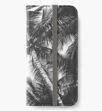 Black and White Palm Trees iPhone Wallet/Case/Skin