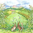 Border Seasons Spring (watercolour on paper) by Lynne Henderson