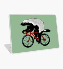 Honey Badger On A Bicycle Laptop Skin