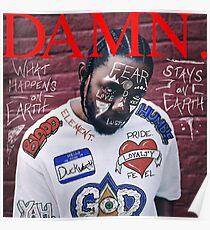 Kendrick Lamar - DAMN. Alternate Album Art Poster