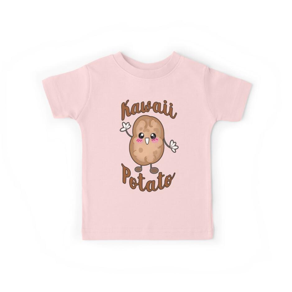 Kawaii Clothing Kawaii Potato Japanese Anime Shirts Kids Tees By