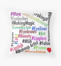 Hashtags - Colorful Throw Pillow