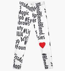 Hashtags - Black and White Leggings