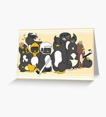 The Little Penguins Greeting Card