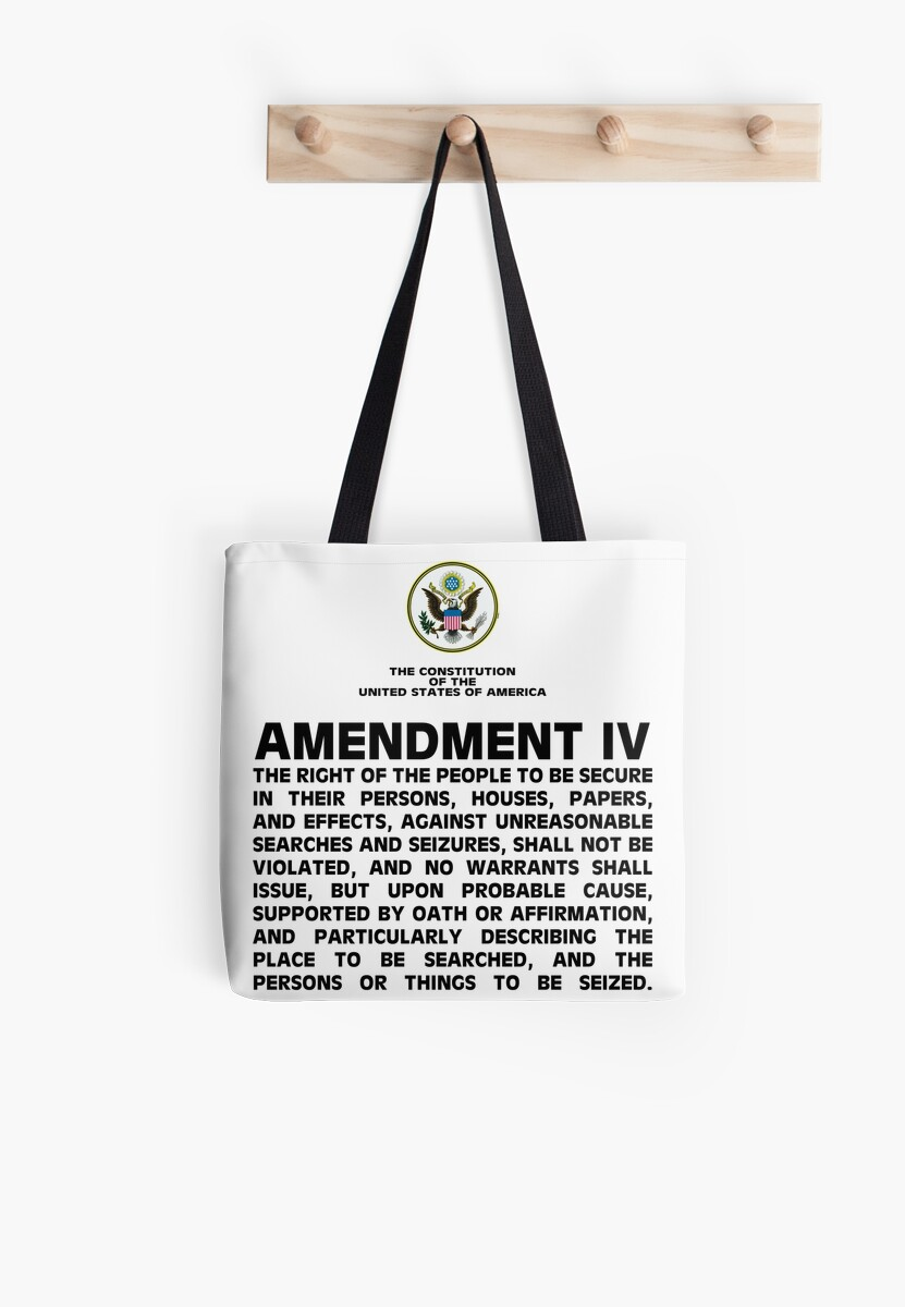 Amendment IV - 4th Amendment Shirt by IntrepiShirts