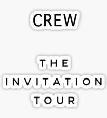 The Invitation Tour Crew T-Shirt (Why Don't We) - Black Text Sticker