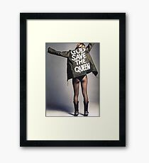 GOD SAVE THE QUEEN PRINT  Framed Print